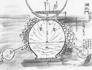 小堀家の水琴窟の図面